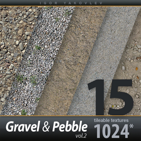 Gravel, Pebble 1024x1024 vol.2