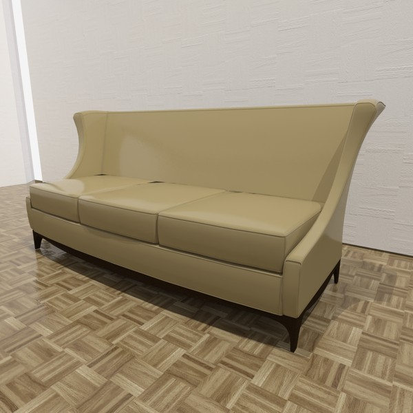 corsica sofa 3d model - Corsica Sofa... by TheToastMaster