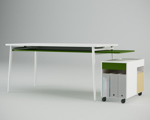 enchord desk 3d max - Herman Miller Enchord Desk Inc. Studio... by danieljhatton
