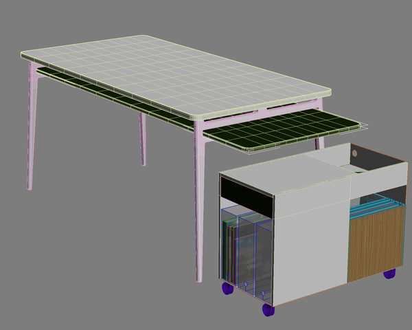 enchord desk 3d model - Herman Miller Enchord Desk... by danieljhatton