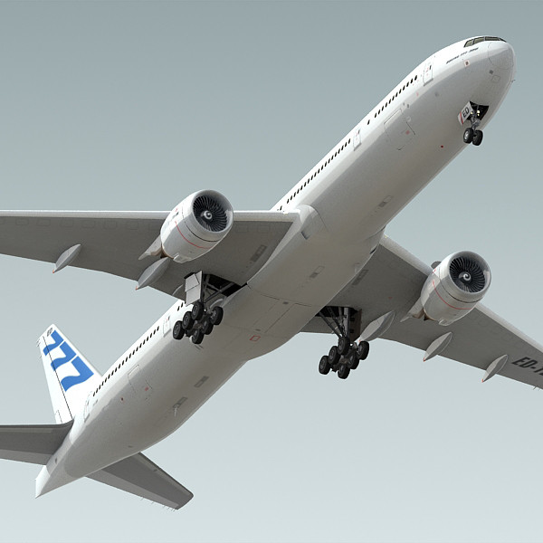 3d boeing 777-300 plane generic model - Boeing 777-300 Generic White A... by BlueGreen