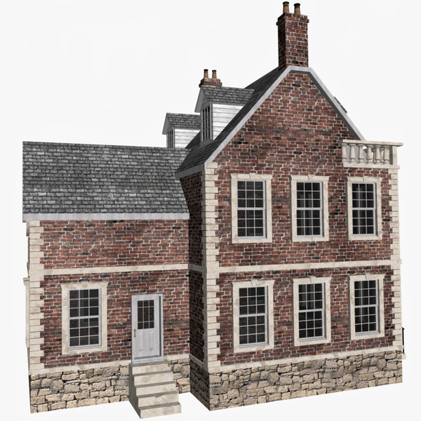 3dsmax house old english - Old English House... by chaosfractal