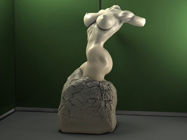 obj marble sexy female torso - Sexy Female Torso... by scyrus
