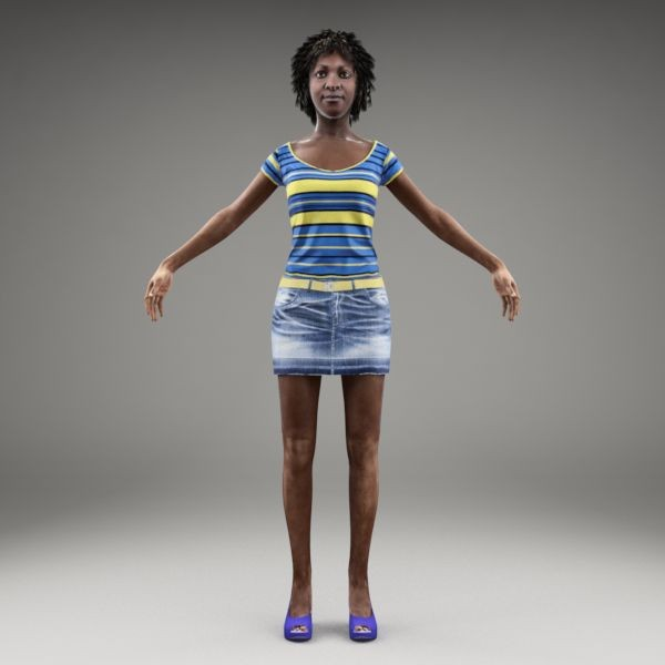 axyz body character human 3d max - CWom0014-M3-CS... by axyzdesign