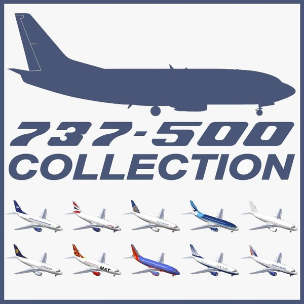 3d model b 737-500 - B 737-500 Collection... by PedroFaut