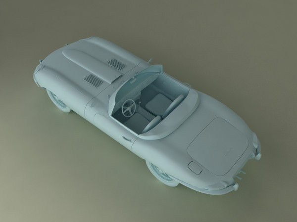 roadster sport 3d model - Jaguar E-type... by desmonster