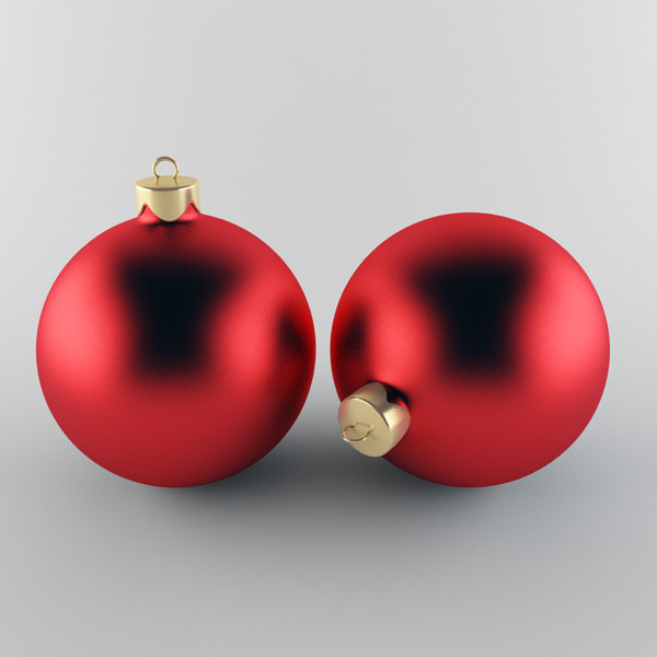 3d model christmas ball - Christmas Ball Red... by happy3D