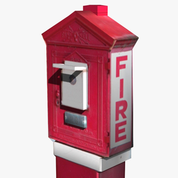 alarm box 3d max - Fire Box... by Mickey Models
