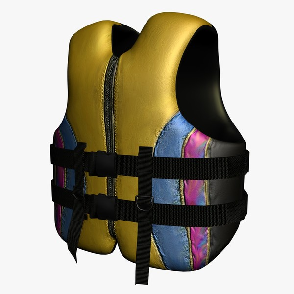 3ds max life jacket - Life Jacket... by Mickey Models