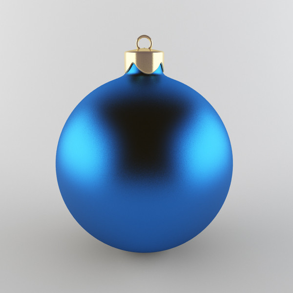 christmas ball 3d obj - Christmas Ball Blue... by happy3D