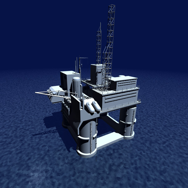 3d oil rig model - Oil Rig... by UnderTenBucks