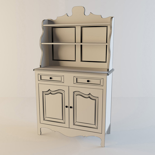 buffet cupboard 3d model - Buffet-Cupboard... by kotiss