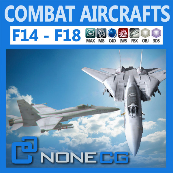 f18 combat fighter 3d model - Pack - Combat Aircrafts... by NONECG