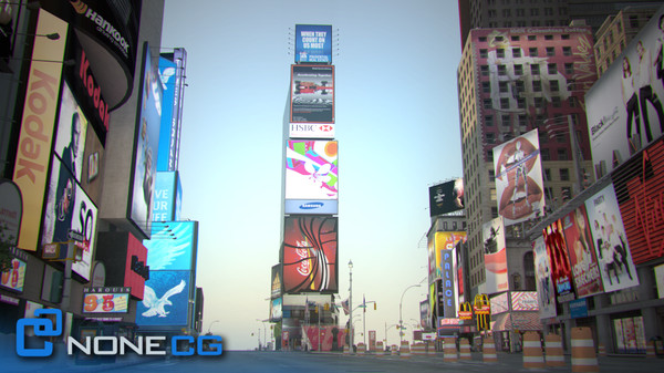 new york square nyc 3d max - NYC Times Square... by NONECG