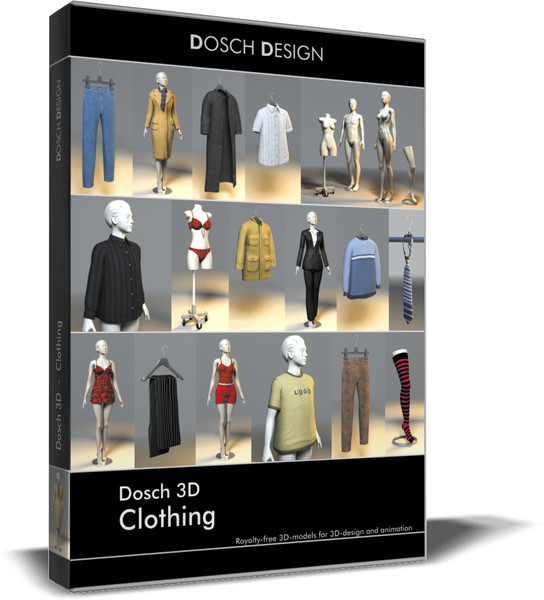 clothes dosch 3d: max - DOSCH 3D: Clothing... by Dosch Design