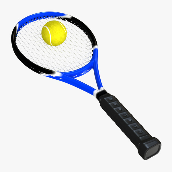 3d tennis racket ball - Tennis Racket and Ball... by sabah_au