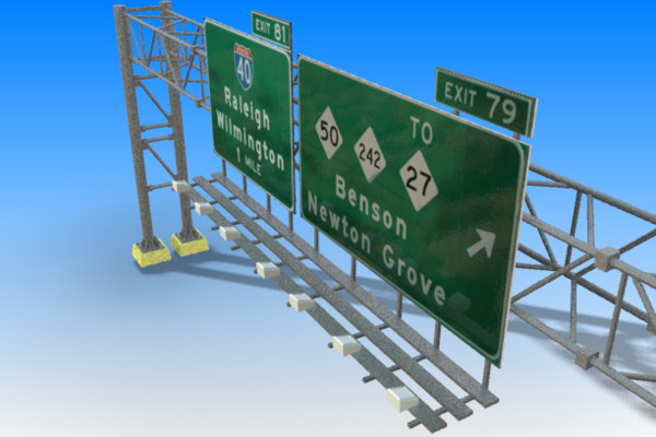 3ds highway signs - Highway Signs... by stoplight96