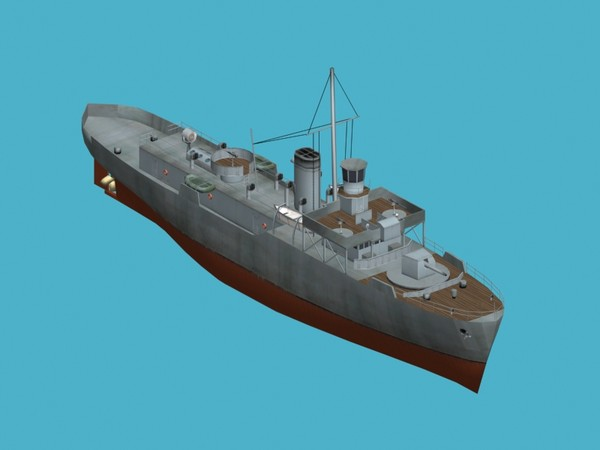 3ds max flower class corvettes - HMS Flower class corvette... by FangioDesign