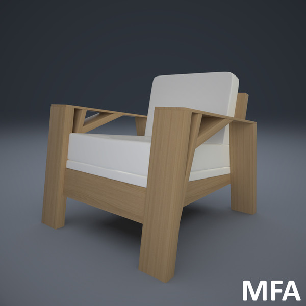 3d model armchair design olivier - Armchair Carpenter... by mindFreeArtist