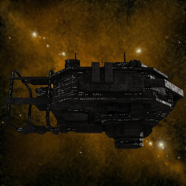 space station 3d model - Spaceship_Station_6... by Angryfly