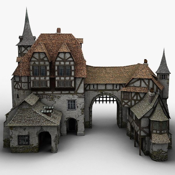 3d old medieval warehouse - Medieval Warehouse... by bemola