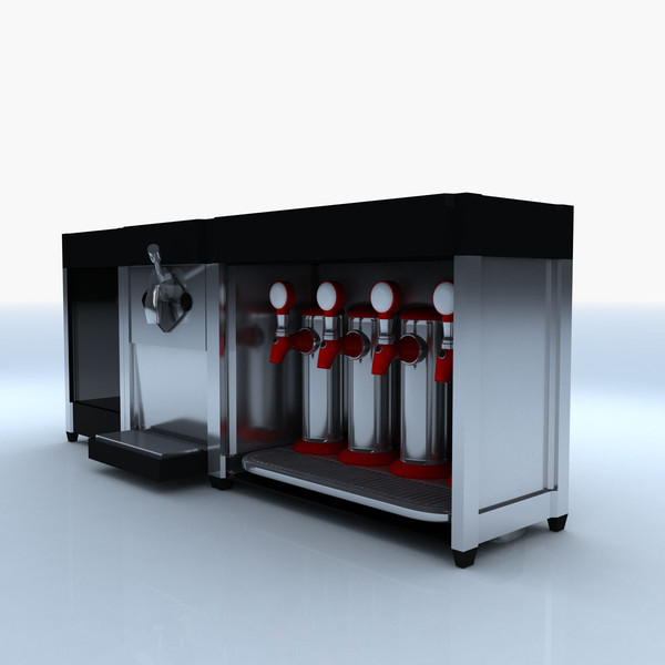popcorn maker icecream soda 3d ma - Popcorn Icecream Soda Maker... by bluewhalestudios