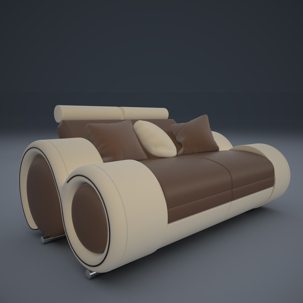3d model ultra modern sofa 2x - Ultra Modern Sofa 2x... by mindFreeArtist