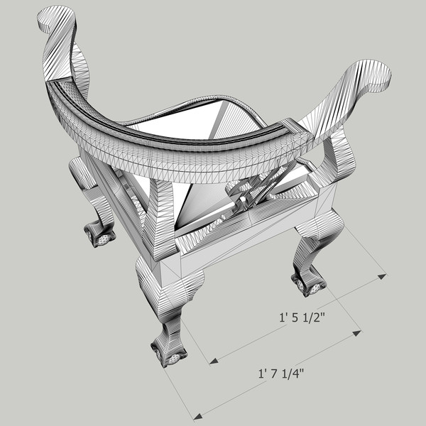 maya townsend corner chair - Townsend Corner Chair... by chaosfractal