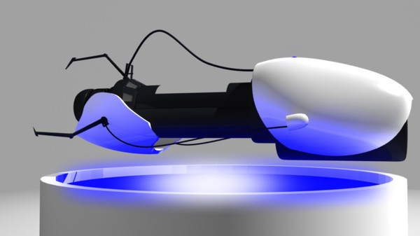 portal gun 3d blend - Portal Gun... by somethinthtpops
