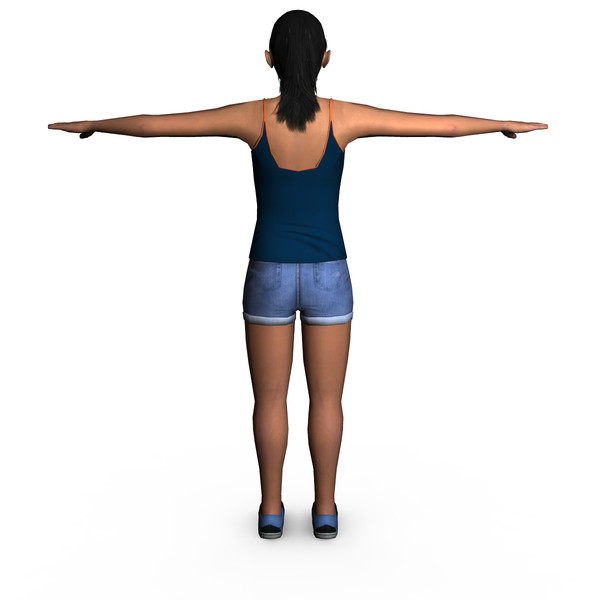 casual female 03 3d model - Casual Female 03... by ignisfatuus