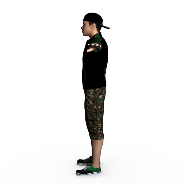 casual male 01 3d model - Casual Male 01... by ignisfatuus