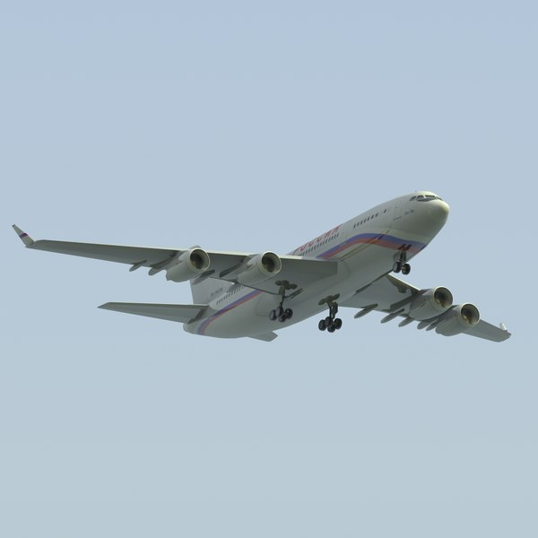 3d model of il96-300 rossiya - IL96 300 Rossiya LW... by ES3DStudios