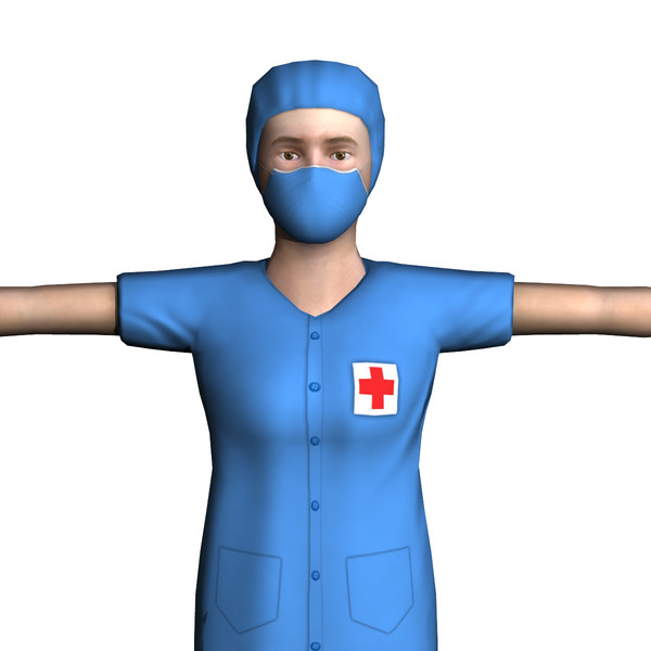 surgeon female 01 3d model - Surgeon Female 01... by ignisfatuus