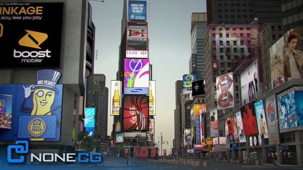 3d model new york city broadway - NYC Broadway,7th Av, Times Square... by NONECG