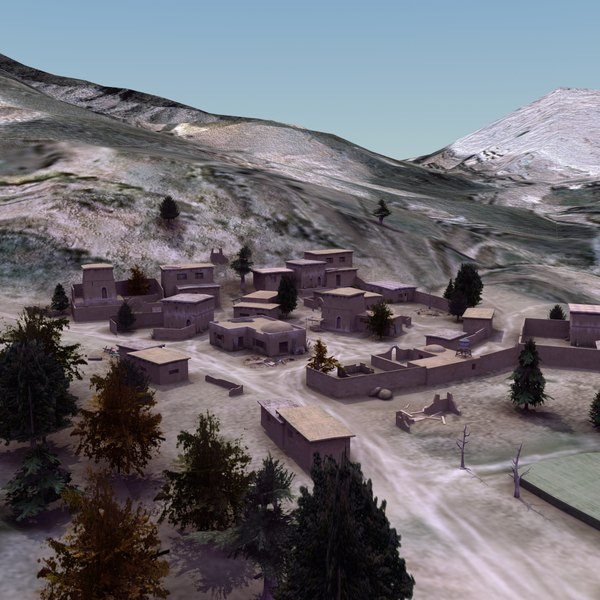 villages terrain 3d model - Afghan Village Collection... by ES3DStudios