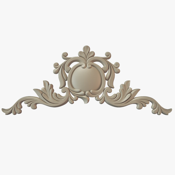 3d decorate facades model - Molding Cartouche 36... by Makhota