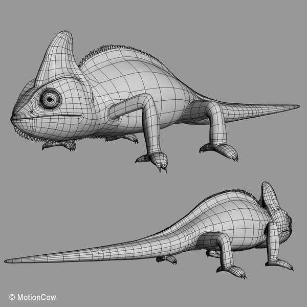 3d chameleon tongue model - Chameleon ( Green )... by MotionCow