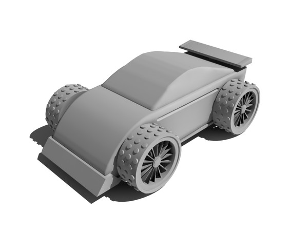 toy car 3d model - Black wooden toy car... by gile.073