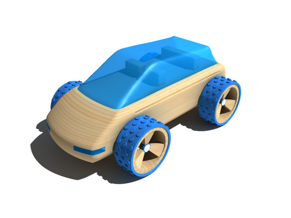max toy car - Blue wooden toy car... by gile.073