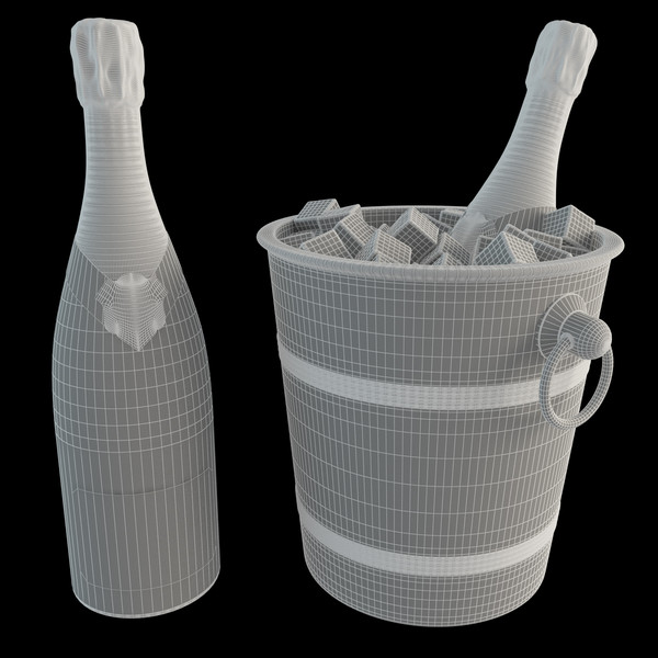maya champagne ice bucket - Champagne Ice Bucket... by happy3D