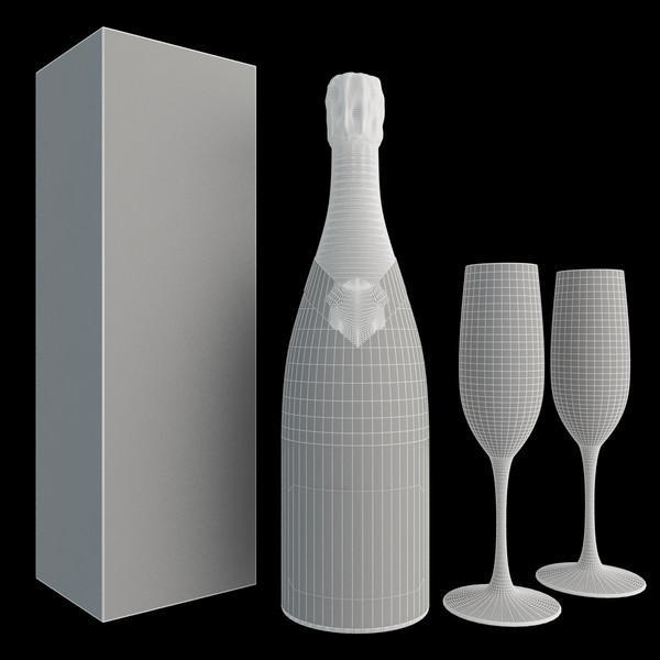 champagne bollinger set 3d max - Champagne Bollinger Set... by happy3D