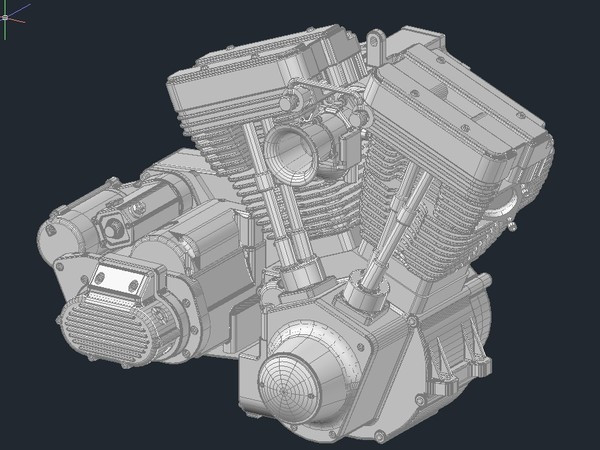 v twin motor engine 3d dwg - V Twin Engine... by l2003coatl