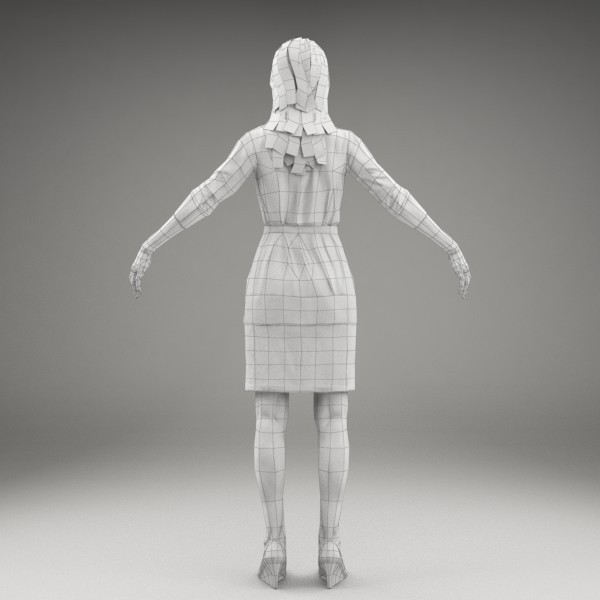 character human 3d model - BWom0004-M3-CS... by axyzdesign