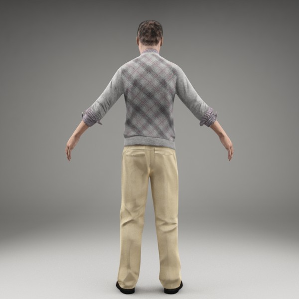 3d model character human - CMan0008-M3-CS... by axyzdesign