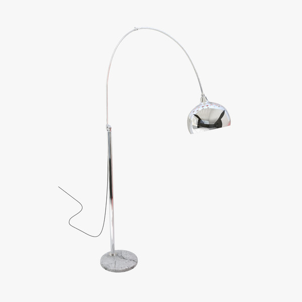 3ds curved floor lamp metal - Floor Lamp 02... by Lajhar