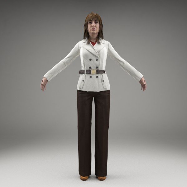 3d character human - CWom0008-M3-CS... by axyzdesign