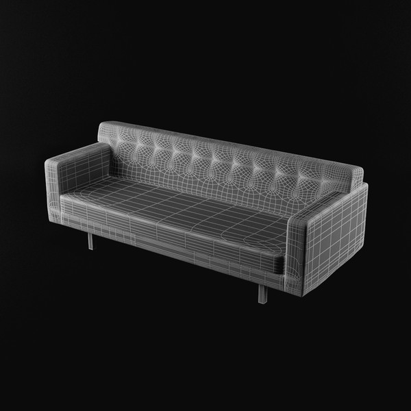 3d model sofa wood - Couch 02... by Lajhar