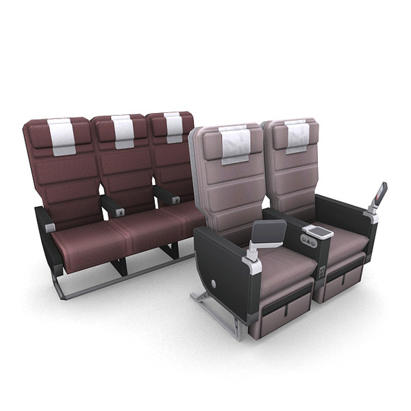 aircraft seating 3d model - Aircraft Seating 1... by RyanN