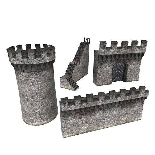 castle wall 3d max - Castle Walls 1... by RyanN