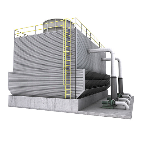 water cooling tower 3d max - Cooling Tower 3... by RyanN